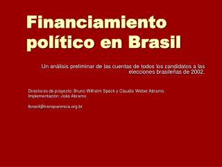 Financiamiento político en  Bra s il