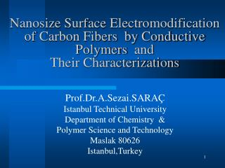 Nanosize Surface Electromodification of Carbon Fibers  by Conductive Polymers  and  Their Characterizations