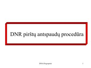 DNR pirštų antspaudų procedūra