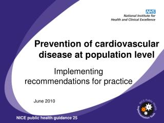 Prevention of cardiovascular disease at population level