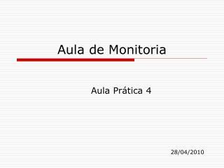 Aula de Monitoria