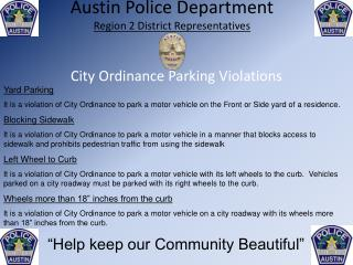City Ordinance Parking Violations