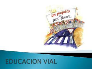 ¿Qué es educación Vial?