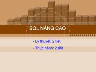 SQL NÂNG CAO