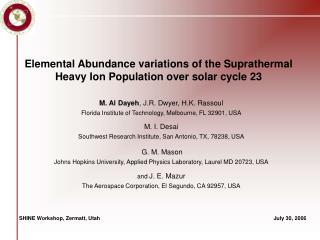 Elemental Abundance variations of the Suprathermal Heavy Ion Population over solar cycle 23
