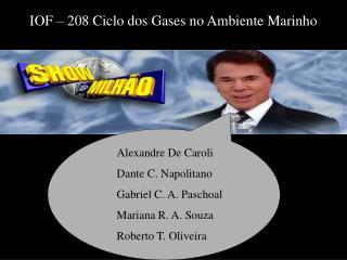 Alexandre De Caroli Dante C. Napolitano Gabriel C. A. Paschoal Mariana R. A. Souza
