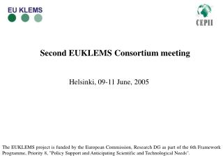 Second EUKLEMS Consortium meeting