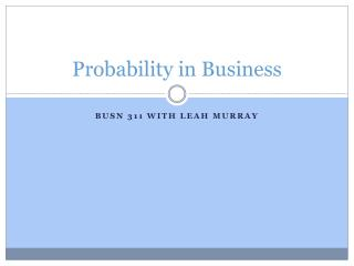 Probability in Business