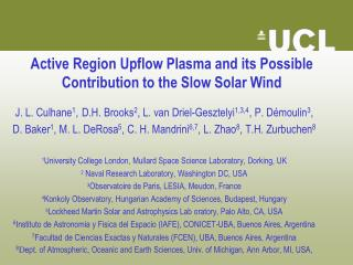 Active Region  Upflow  Plasma and its Possible Contribution to the Slow Solar Wind