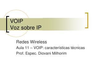 VOIP Voz sobre IP