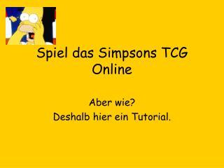 Spiel das Simpsons TCG Online