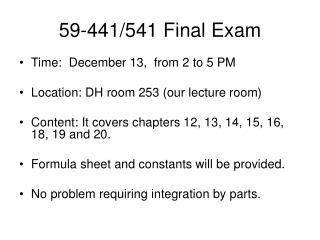 59-441/541 Final Exam