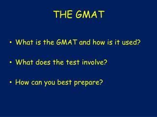 THE GMAT