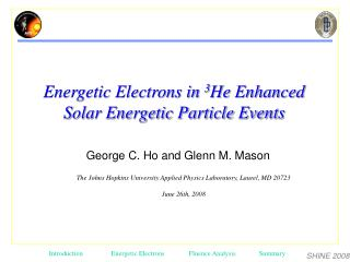 George C. Ho and Glenn M. Mason