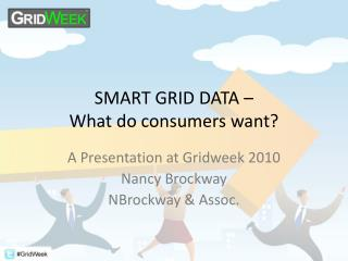 SMART GRID DATA – What do consumers want?