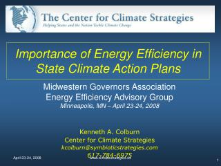 Importance of Energy Efficiency in State Climate Action Plans