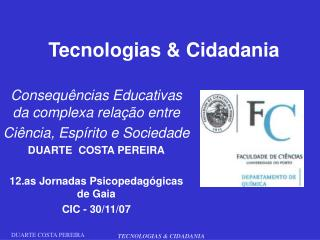 Tecnologias & Cidadania