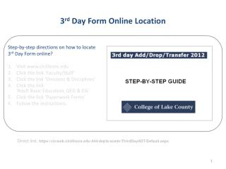 3 rd  Day Form Online Location
