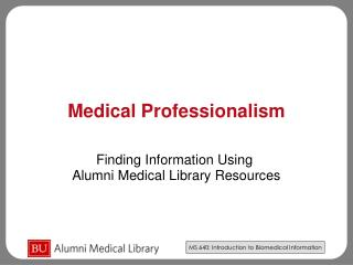 Medical Professionalism