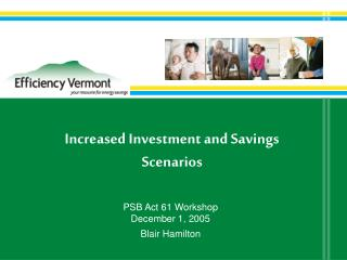 Increased Investment and Savings Scenarios