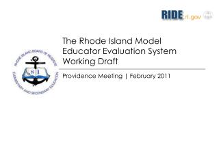 The Rhode Island Model  Educator Evaluation System Working Draft