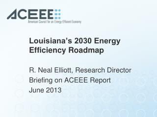 Louisiana's 2030 Energy Efficiency Roadmap