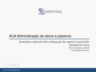 ALM Administração de ativos e passivos