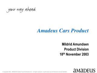 Amadeus Cars Product