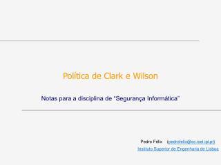 Política de Clark e Wilson