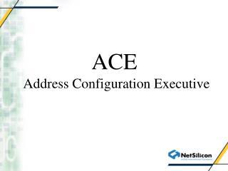 ACE  Address Configuration Executive