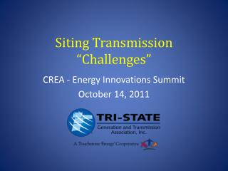 """Siting  Transmission """"Challenges"""""""