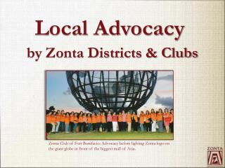 by Zonta Districts & Clubs