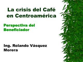 La crisis del Café en Centro a mérica