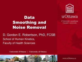 Data Smoothing and Noise Removal