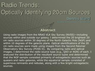 Radio Trends: Optically Identifying 20cm Sources