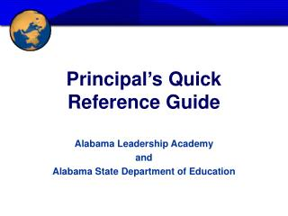 Principal�s Quick Reference Guide