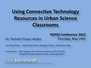 Using  Connective Technology Resources in Urban Science  Classrooms