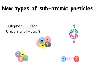 New types of sub-atomic particles