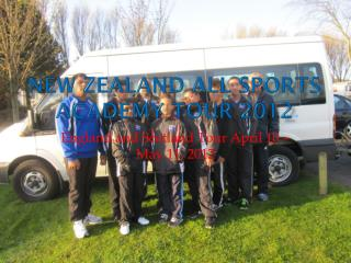 New Zealand All Sports Academy Tour 2012