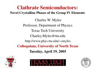 Clathrate Semiconductors: Novel Crystalline Phases of the Group IV Elements