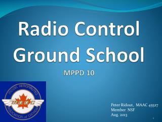 Radio Control Ground School MPPD 10
