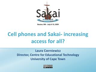 Cell phones and Sakai- increasing access for all
