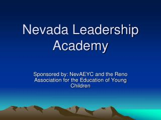 Nevada Leadership Academy