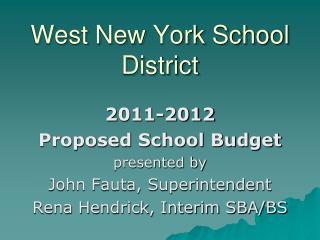 West New York School District