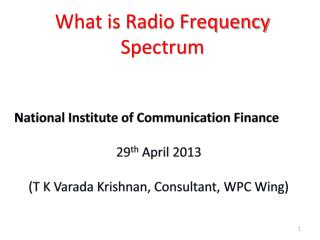 What is Radio Frequency Spectrum