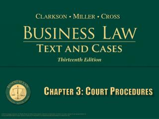 Chapter 3: Court Procedures