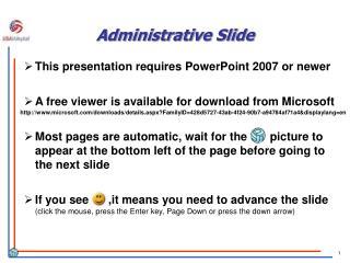 Administrative Slide