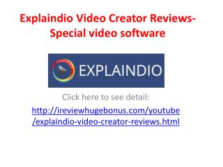 Explaindio Video Creator Reviews-Special video software