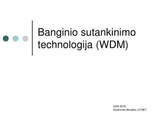 Banginio sutankinimo technologija  (WDM)