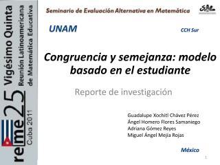 Congruencia y semejanza: modelo basado en el estudiante